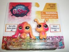 MINIATURE HASBRO LITTLEST PET SHOP APRICOTTA #1 & SUNSET #2 TOY 2 PACK NIP