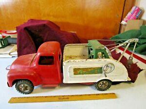 "Buddy L ""Repair It"" Tow Truck USA Pressed Steel 14.5"" Long Original"