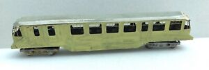 Tri-ang  TT compatible Worsley works brass GWR railcar, unboxed.
