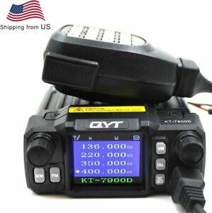 QYT KT-7900D 25W Quad Band 144/220/350/440MHZ Walkie Talkie KT7900D Car FM radio
