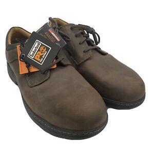 Timberland Pro Men's Branston Safety Work Shoe Alloy Toe 91692 Brown 11.5 NIB