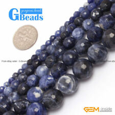 Blue Gemstone Round Jewellery Making Beads