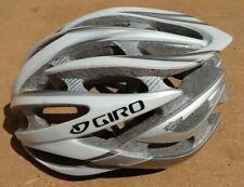 Giro Atmos II Road Bike Helmet 314g - Large 59-63cm - White and Silver - Roc Loc