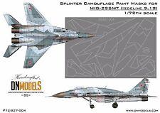 Splinter Camo Mask set for MiG-29SMT 9-19 1/72 Trumpeter #01676 FREE Shipping