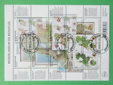 Nederland compleet vel v 2937 - 2946 Bosatlas 2012 mooi gestempeld