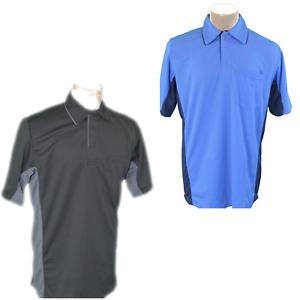 MLB Style Umpire Shirts (Black, Blue, Sm, Med, LG, XL, 2XL, 3XL)