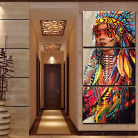 Frameless On Canvas Oil Painting Home Decor Colorful Wall Art-Indian B-L