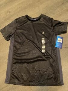 NWT boy champion short sleeve athletic top t shirt Grey Size 10/12