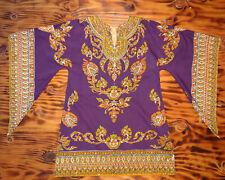 Vintage Dashiki Mini Dress Vintage Hippie Dress Mini Dress Angel Wing Sleeve