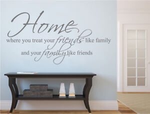 Home family and friends wall quote sticker | Friends and family wall decal