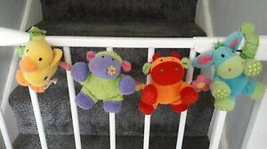 ELC VINTAGE 2002 BLOSSOM FARM noisy stretchy baby pram cot toy