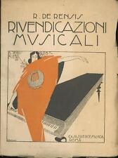 Rivendicazioni musicali De Rensis Raffaello Casa Editrice Musica