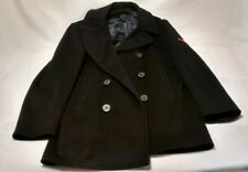 Official Military Issue USN US NAVY Kersey Peacoat Mens 40R Wool Coat 10 Button