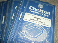 Teams C-E Chelsea League Cup Football Programmes