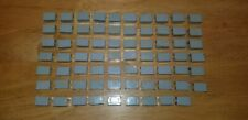 Vintage Fisher Price Construx Lot Of 70 Small Grey Beams 3/4 Inches Long
