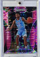 2019-20 Panini Prizm Draft Picks Pink Pulsar Coby White Rookie RC #8, Refractor