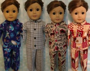 """18"""" Boy Doll Pajamas fits 18 inch American Girl Doll Clothes 454abcd"""