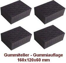 Gummiteller für Hebebühne 160x120x80 mm - Gummiauflagen - Auflageteller -Italien