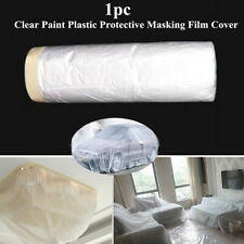 Car Home Clear Paint Plastic Protective Masking Film Cover Roll Sheet MultiUsage