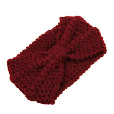 Fashion Women Crochet Headband Knit Bowknot Hairband Ear Warmer Winter Headwrap