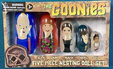 The Goonies 5-Piece Plastic Nesting Doll Set NRFB NEW