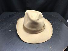 Huckle 100 % Fur Felt 7 3/8 Tan Fedora Hat