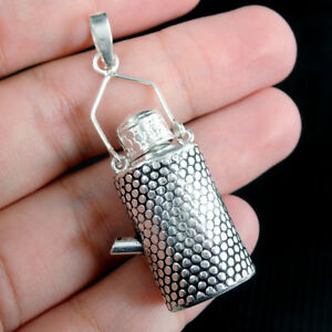 925 Sterling Silver Prayer Box Locket Pendant Jewellery