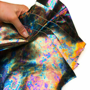 Colorful Gasoline Leather Sheet Scrap Pack || All Size Pre-cut DIY Real Leather