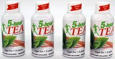 5 Hour Energy Natural Green Peach Tea Bulk 4 Ct 1.93 oz Shot Bottles Five Hr