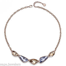 Oliver Weber Swarovski Crystal Rose Gold Fashion Necklace 11531