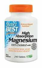 Doctor's Best High Absorption Magnesium - 240 tablets HEART, CIRCULATION, BRAIN