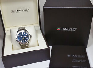 Minty Tag Heuer Aquaracer WAY2012 Automatic Cal 5 Mens Divers Watch Box Booklet