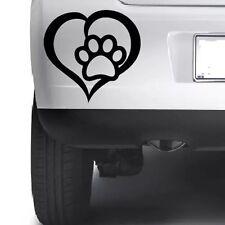 PET Paw Print con cuore cane gatto amore Vinile Decalcomania Auto Paraurti Finestra Adesivo taglio