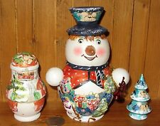 Russi CONTENITORI bambole PUPAZZO DI NEVE BABBO Albero Di Natale OPACO Babushka