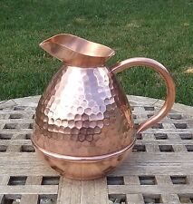 Marque Deposee Hammered Copper 1.5 Liter Water Pitcher, Made in France