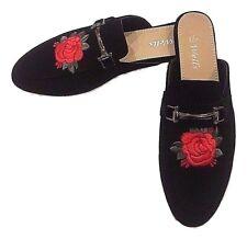 New Woman Backless Loafer Slipper Mule Slide Shoes Flower Two Way Wearing 5-10