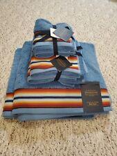 Pendleton Bathroom Towel Set saltillo stripe 2 washcloths bath hand towels nwt