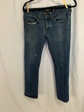 ELWOOD Men's 32 X 31 Distressed Button Fly Jeans