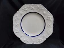 Crown Ducal CRD4493 Royal Blue Inner Band,Embossed Fruit Rim:Dinner Plate Crazed