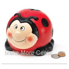 Smiling Ladybug Coin Piggy Bank - FREE SHIPPING