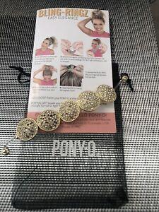 Genuine PONY-O Hair Bling Ringz Gold Brand New