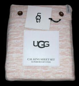 UGG Cal King Tanya Rose Tint Sheet Set