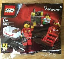 LEGO RACERS FERRARI PIT CREW FORMULA 1 SHELL V POWER RARE -30196-3 MINI FIGS-NEW