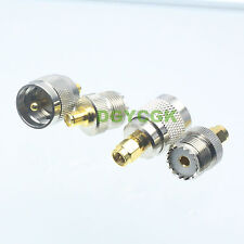 4pcs/set Adapter SMA~UHF PL259 SO239 female F male M Kit for Communication