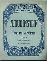 """A. RUBINSTEIN : """" ROMANZE UND SCHERZO """" Op. 41  ~ übergroße Noten, ALT"""