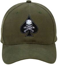 Olive Drab Death Spade Embroidered Insignia Adjustable Baseball Hat Cap