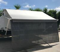 15ft Caravan RV Privacy Screen Wall Side Sun Shade Roll Out Awning Jayco parts