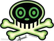 Skull Green Sticker Decal Chico Von Spoon CVS4