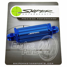 FUEL FILTER DASH 6 -6 AN BLUE ANODISED ALUMINIUM ALLOY 30 MICRONS NOS SNIPER