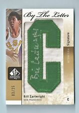 BILL CARTWRIGHT 2011/12 SP AUTHENTIC BY THE LETTER PATCH AUTOGRAPH AUTO /25